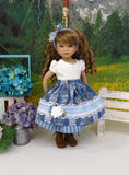 Swiss Beauty - dirndl ensemble with tights & boots for Little Darling Doll or 33cm BJD