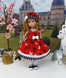 Tail Wagging - dress, hat, socks & shoes for Little Darling Doll or 33cm BJD