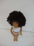 Tanesha Wig in Darkest Brown - for Little Darling dolls