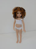 Tanesha Wig in Gold/Brown - for Little Darling dolls