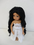 Taylor Wig in Off Black - for Little Darling dolls