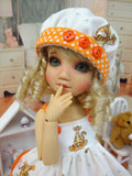 Terrific Tigger - babydoll top, bloomers, hat & sandals for Little Darling Doll
