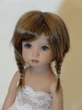Tessie wig in Two Tone Brown - for Little Darling dolls