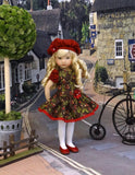 Thistleberry - dress, beret, tights & shoes for Little Darling Doll or other 33cm BJD