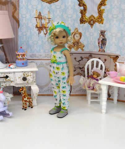 Tiny Elephant - romper, hat, socks & shoes for Little Darling Doll or 33cm BJD