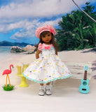 Tiny Turtles - dress, hat, socks & shoes for Little Darling Doll or 33cm BJD