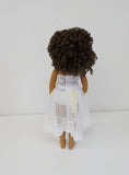 Tori Wig in Brown Black - for Little Darling dolls