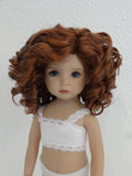 Tori Wig in Chocolate Red - for Little Darling dolls