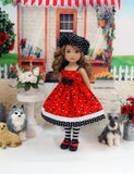 Toy Poodle - dress, hat, tights & shoes for Little Darling Doll or 33cm BJD