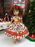 Toy Soldiers - dress, tights & shoes for Little Darling Doll or 33cm BJD