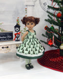 Trim the Tree - dress, tights & shoes for Little Darling Doll or 33cm BJD