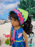 Tropical Flamingo - romper, kerchief & sandals for Little Darling Doll or other 33cm