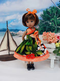 Tropical Paradise - dress & sandals for Little Darling Doll or 33cm BJD