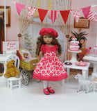 True Love - dress, hat, tights & shoes for Little Darling Doll or 33cm BJD