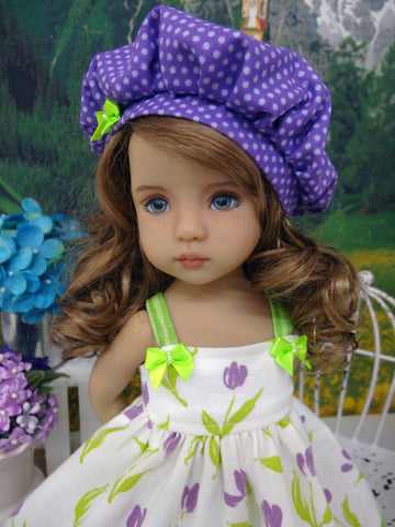 Tulip Festival - dress, hat, tights & shoes for Little Darling Doll or 33cm BJD