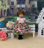 Tyrol Garden - dirndl ensemble with tights & boots for Little Darling Doll or 33cm BJD