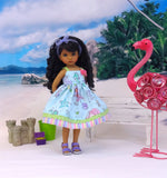 Underwater Treasures - dress & sandals for Little Darling Doll or 33cm BJD