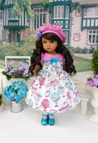 Up, Up & Away - dress, hat, tights & shoes for Little Darling Doll or 33cm BJD