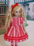 Valentine Heart - dress, tights & shoes for Little Darling Doll