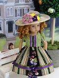 Valley Vineyard - dress, hat, tights & shoes for Little Darling Doll