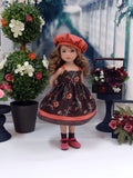 Vintage Floral - dress, jacket, hat, socks & shoes for Little Darling Doll or 33cm BJD