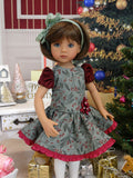 Vintage Holly - dress, tights & shoes for Little Darling Doll or 33cm BJD