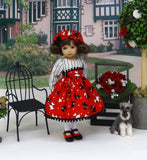 Walk a Scottie - dress, hat, tights & shoes for Little Darling Doll or 33cm BJD