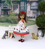 Walk the Dog - dress, socks & shoes for Little Darling Doll or 33cm BJD