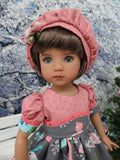 Wee Winter Wonderland - dress, hat, tights & shoes for Little Darling Doll or 33cm BJD
