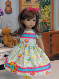 Whimsical Wood - dress, tights & shoes for Little Darling Doll