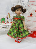Whoville Plaid - dress, tights & shoes for Little Darling Doll or other 33cm BJD