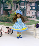 Wild Blue Yonder - dress, hat, socks & shoes for Little Darling Doll or 33cm BJD