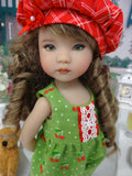 Wild Cherry - romper, jacket, hat, socks & shoes for Little Darling Doll or 33cm BJD
