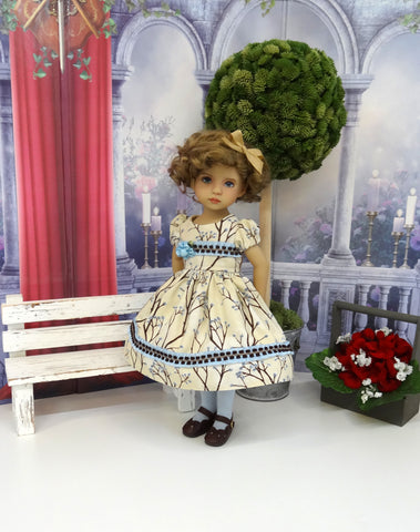 Willow Branch - dress, tights & shoes for Little Darling Doll or 33cm BJD