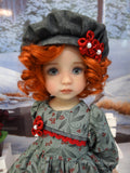 Winter Bayberry - dress, hat, tights & shoes for Little Darling Doll or 33cm BJD