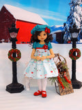 Winter Decorations - dress, hat, tights & shoes for Little Darling Doll or 33cm BJD