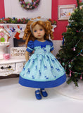 Winter Deer - dress, tights & shoes for Little Darling Doll or other 33cm BJD