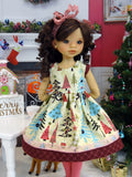 Winter Forest - dress, tights & shoes for Little Darling Doll or 33cm BJD