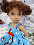 Winter Penguin - dress, tights & shoes for Little Darling Doll or 33cm BJD