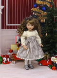 Winter Pines - dress, tights & shoes for Little Darling Doll or 33cm BJD