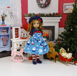 Winter Snow Globe - dress, hat, tights & shoes for Little Darling Doll or other 33cm BJD