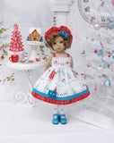 Winter Snowland - dress, hat, tights & shoes for Little Darling Doll or 33cm BJD