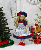 Winter Trees - dress, hat, socks & shoes for Little Darling Doll or 33cm BJD