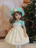 Winter Wonderland - dress, hat, tights & shoes for Little Darling Doll or 33cm BJD