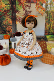 Witch Hat - dress, tights & shoes for Little Darling Doll or 33cm BJD