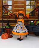 Witch's Brew - dress, beret, tights & shoes for Little Darling Doll or 33cm BJD