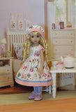 Wonderland Kawaii - dress, hat, tights & shoes for Little Darling Doll or 33cm BJD