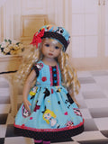 Wonderland Stories - dress, hat, tights & shoes for Little Darling Doll or 33cm BJD