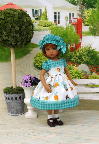 Woodland Critters - dress, hat, socks & shoes for Little Darling Doll or 33cm BJD