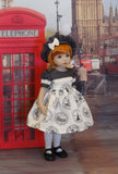 World Traveler - dress, hat, tights & shoes for Little Darling Doll or 33cm BJD